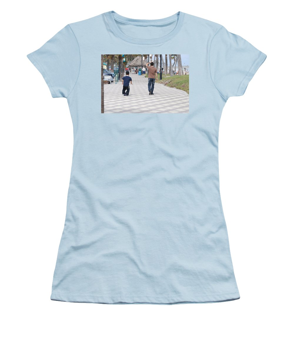 Man Women's T-Shirt (Athletic Fit) featuring the photograph The Walk by Rob Hans