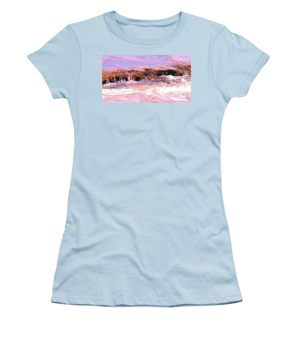 Tide Women's T-Shirt (Athletic Fit) featuring the photograph Tidal Pool by Ian MacDonald