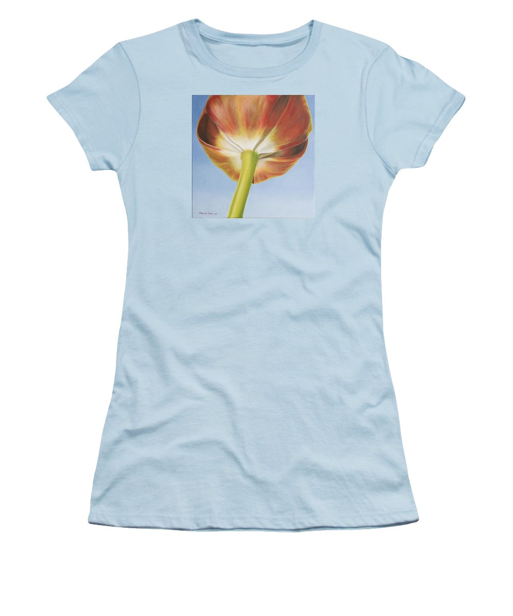 Flower Women's T-Shirt (Athletic Fit) featuring the painting Tulip by Rob De Vries
