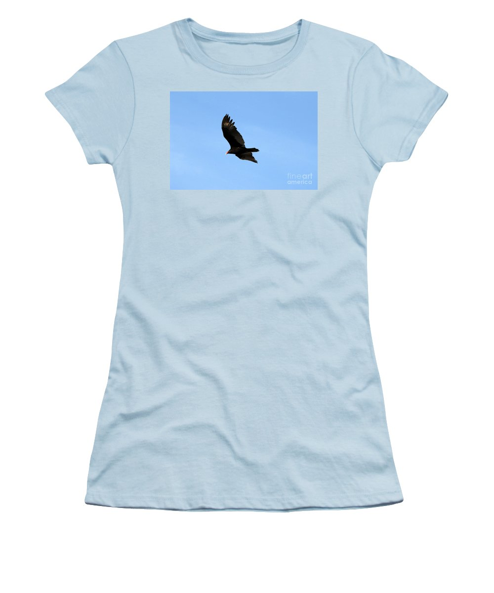 Turkey Vulture Women's T-Shirt (Athletic Fit) featuring the photograph Turkey Vulture by David Lee Thompson