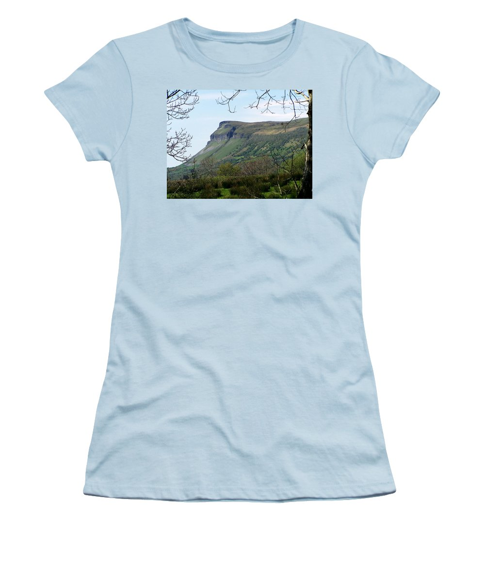 Irish Women's T-Shirt (Athletic Fit) featuring the photograph View Of Benbulben From Glencar Lake Ireland by Teresa Mucha