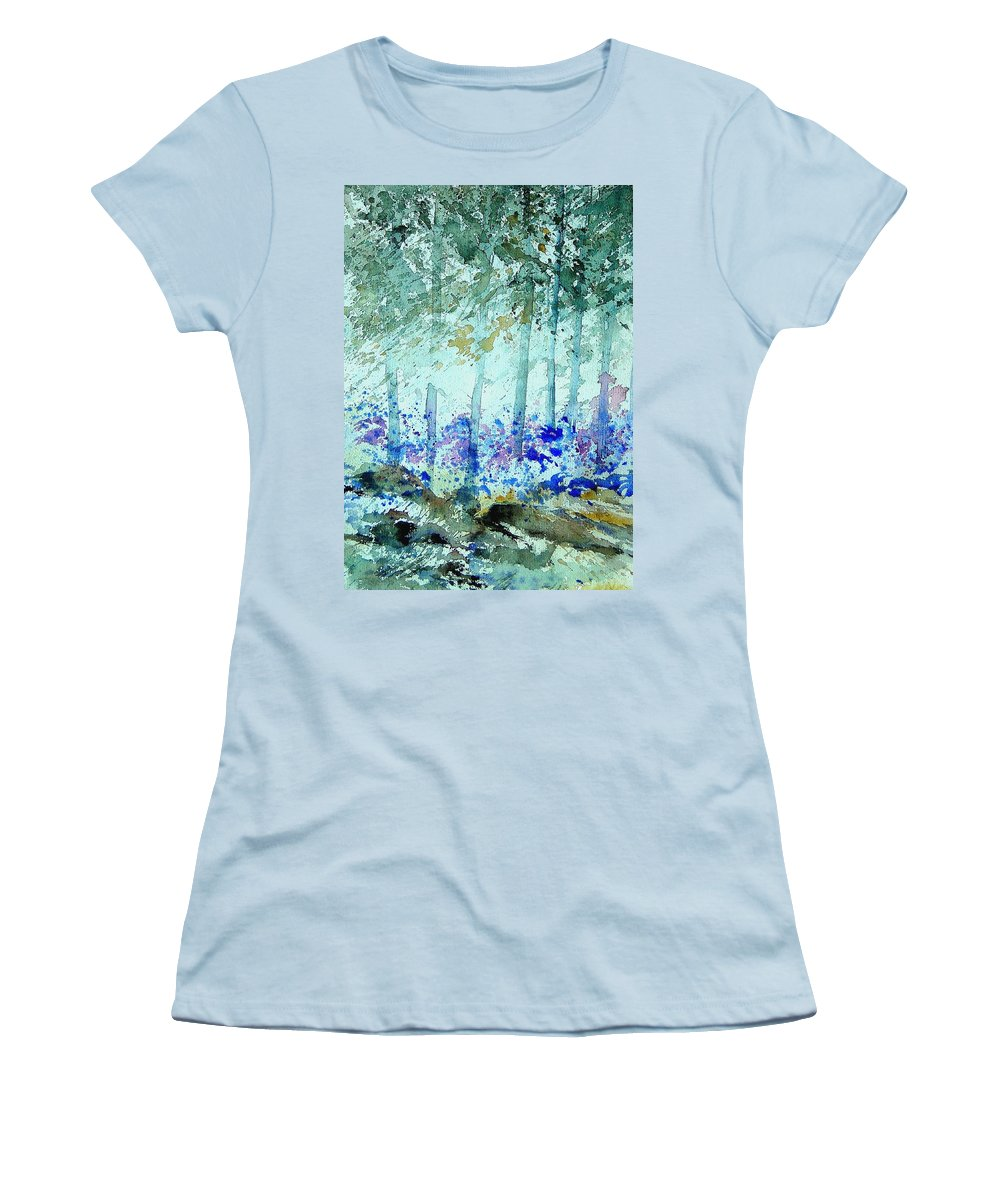 Tree Women's T-Shirt (Athletic Fit) featuring the painting Watercolor 011105 by Pol Ledent
