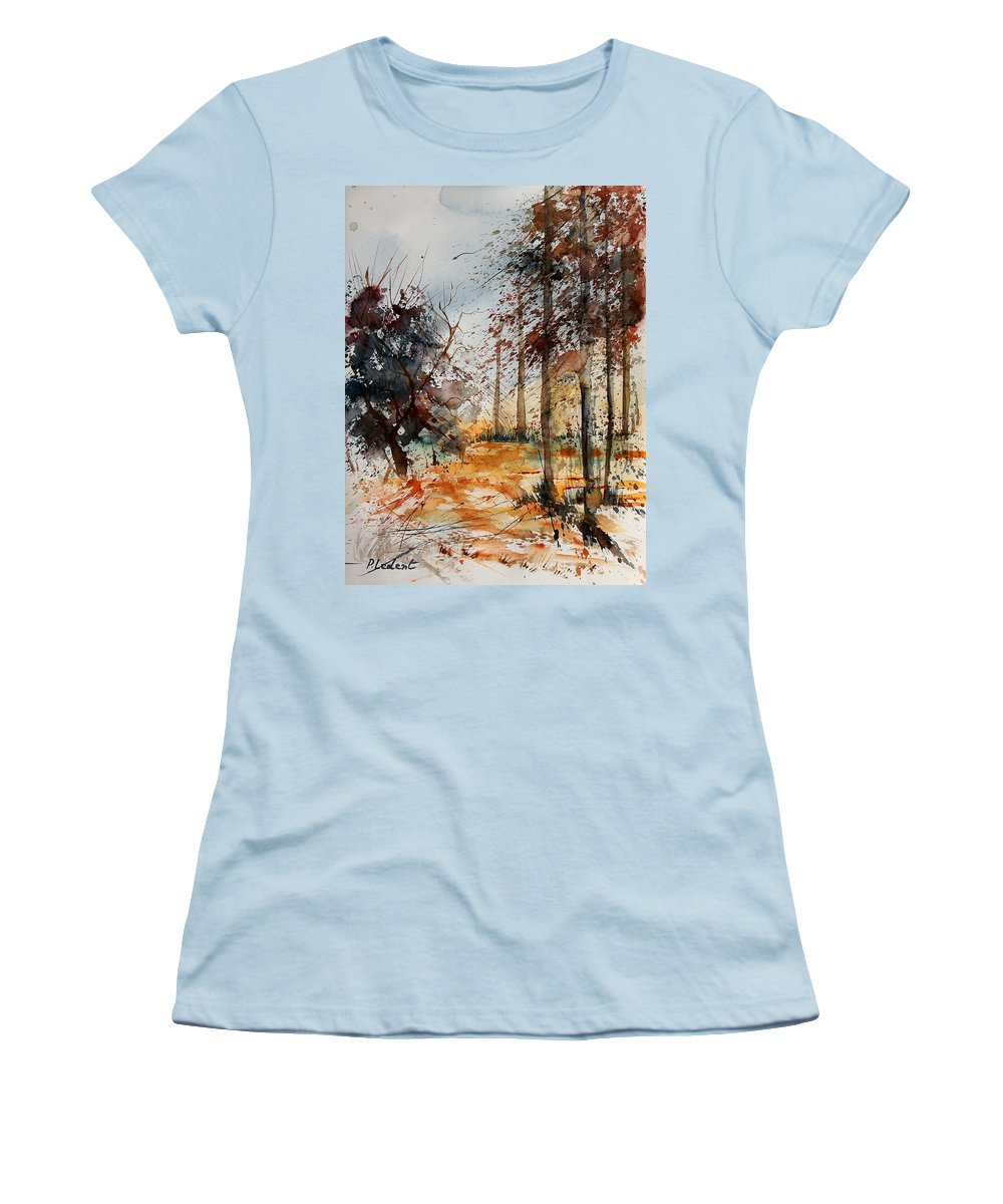Tree Women's T-Shirt (Athletic Fit) featuring the painting Watercolor 040902 by Pol Ledent
