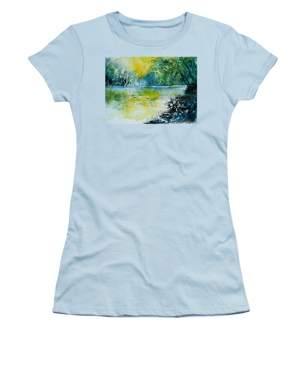 Pond Women's T-Shirt (Athletic Fit) featuring the painting Watercolor 051108 by Pol Ledent