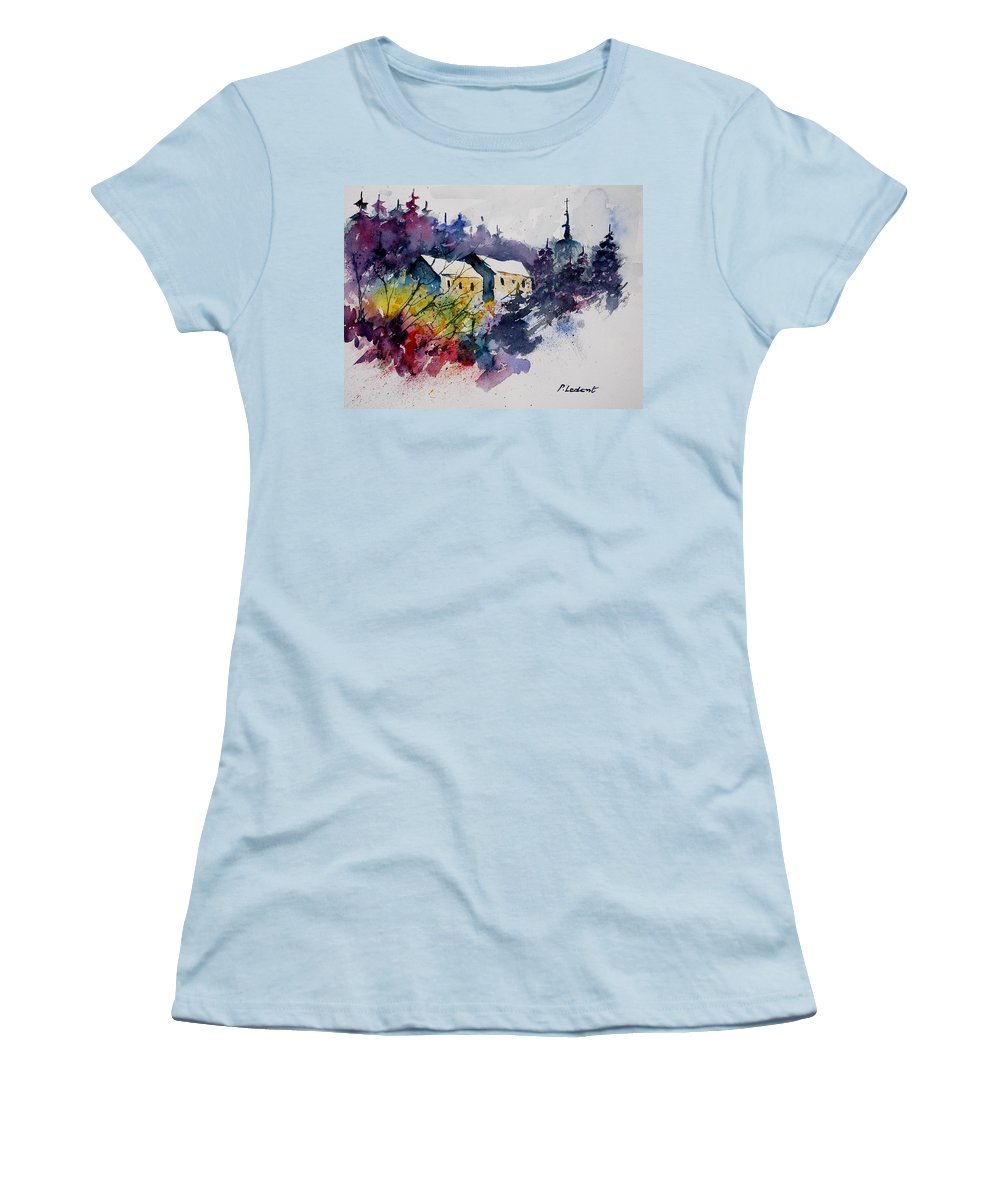 River Women's T-Shirt (Athletic Fit) featuring the painting Watercolor 231207 by Pol Ledent