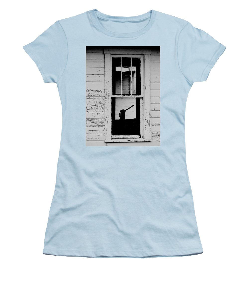 Still Life Women's T-Shirt (Athletic Fit) featuring the photograph Window To The Past by Ed Smith