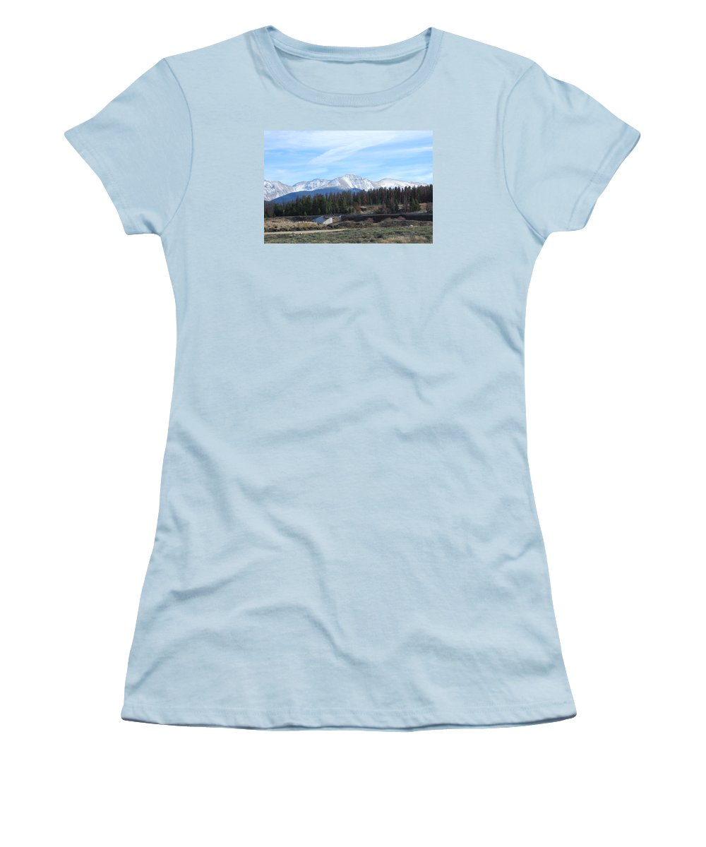 Colorado Women's T-Shirt (Athletic Fit) featuring the photograph Winter Park Colorado by Margaret Fortunato