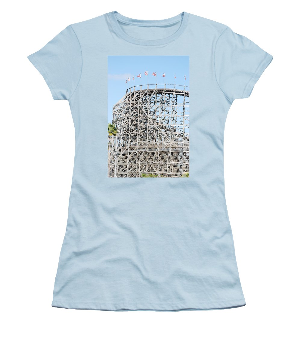 Pop Art Women's T-Shirt (Athletic Fit) featuring the photograph Wooden Coaster by Rob Hans