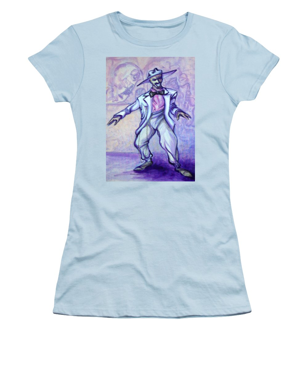 Zoot Suit Women's T-Shirt (Athletic Fit) featuring the painting Zoot Suit by Kevin Middleton