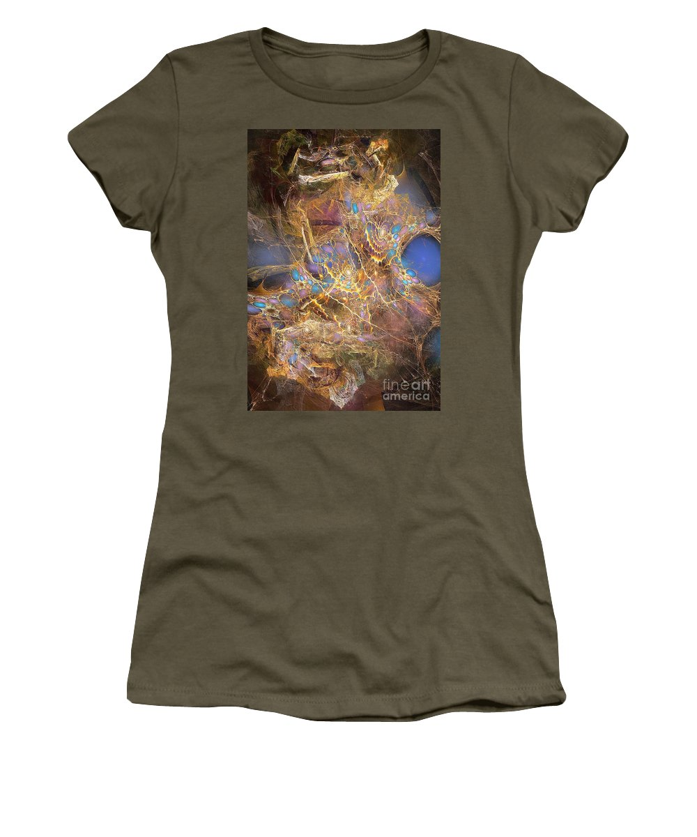 Figure Women's T-Shirt (Athletic Fit) featuring the digital art Abstraction 251-03-13 Marucii by Marek Lutek