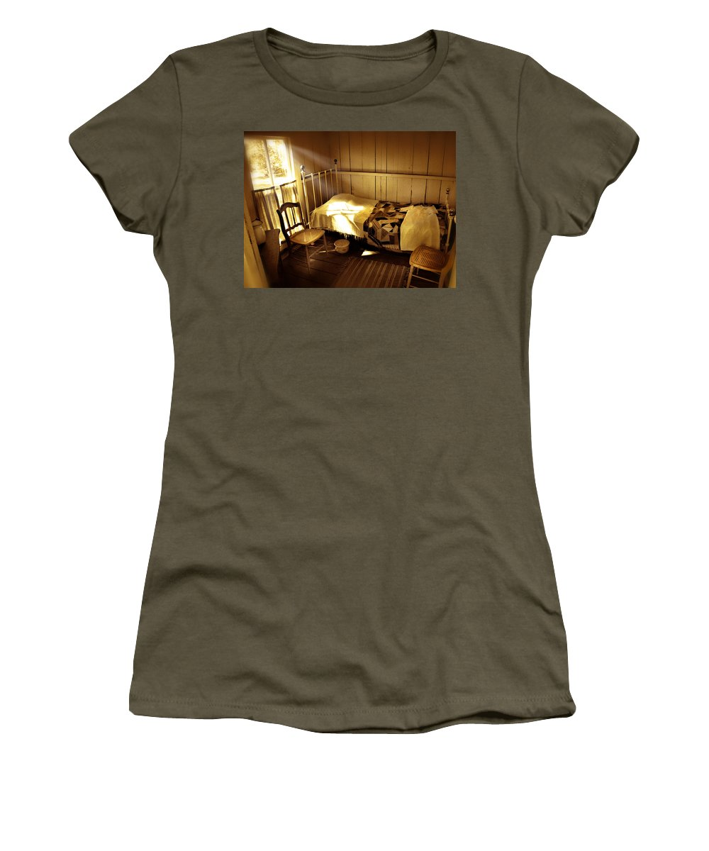 Bedroom Women's T-Shirt (Athletic Fit) featuring the photograph Dreams by Mal Bray