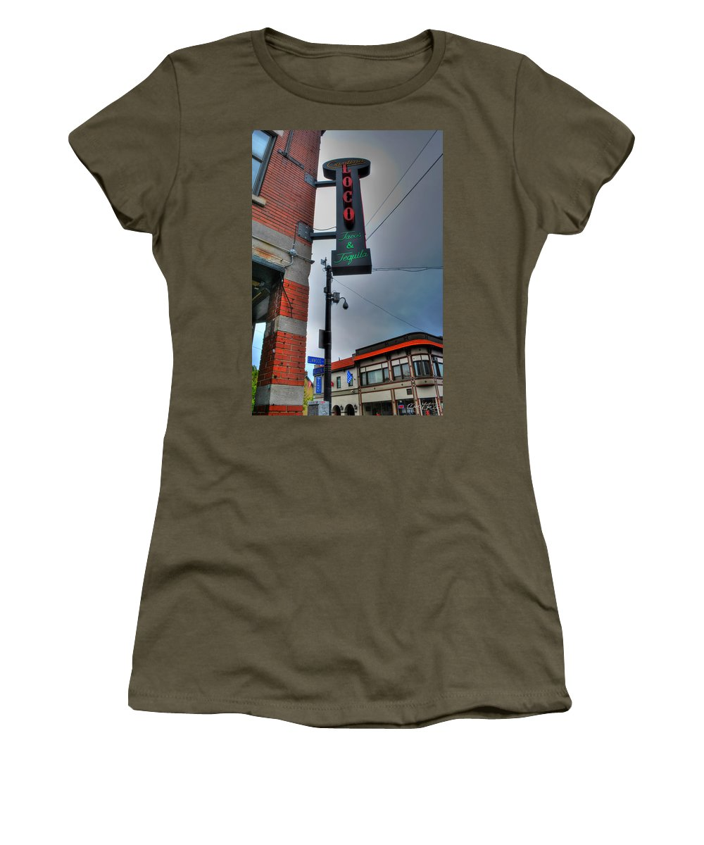 Allentown Women's T-Shirt featuring the photograph 001 Cantina Loco by Michael Frank Jr