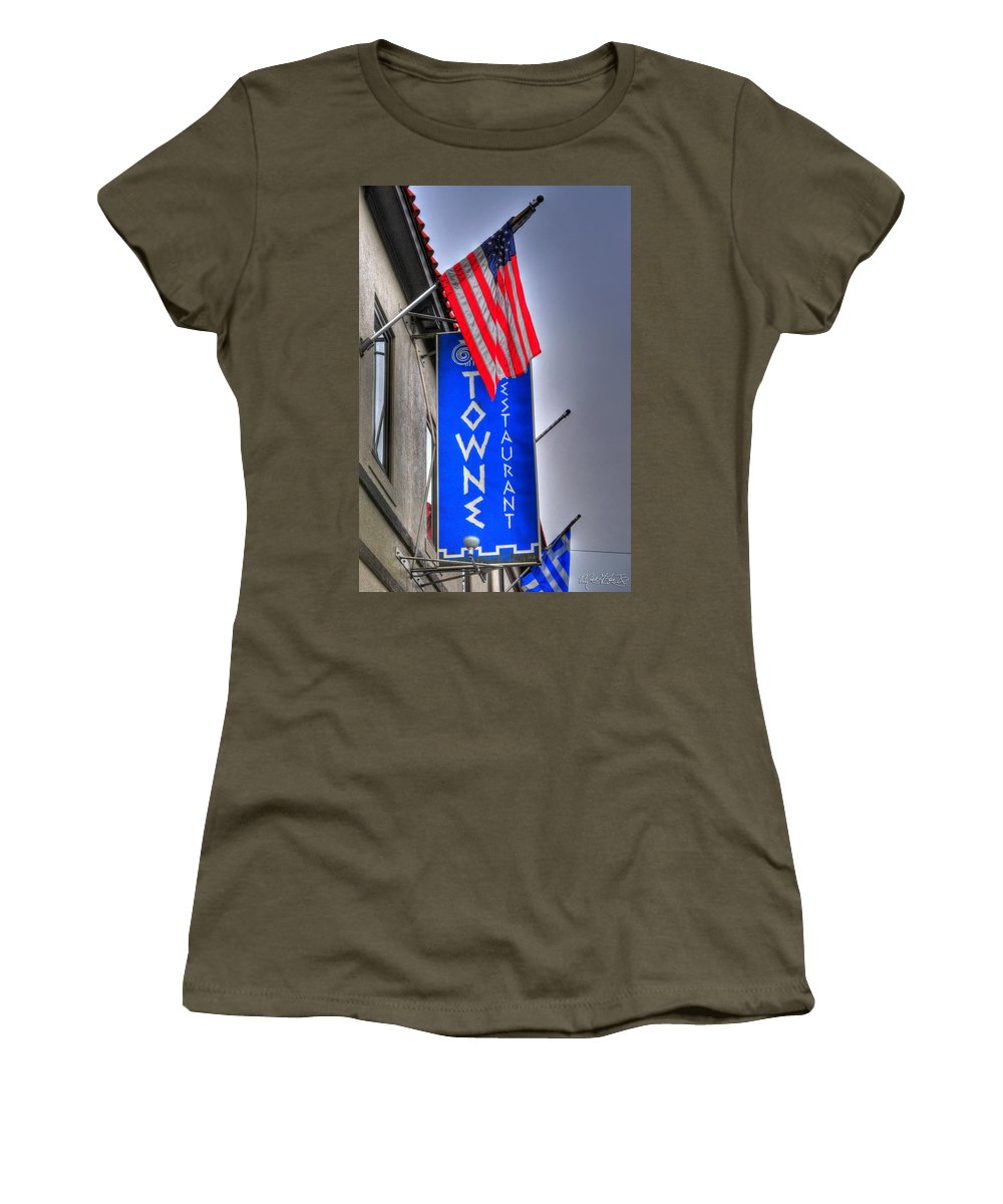 Allentown Women's T-Shirt featuring the photograph 001 Towne Restaurant by Michael Frank Jr
