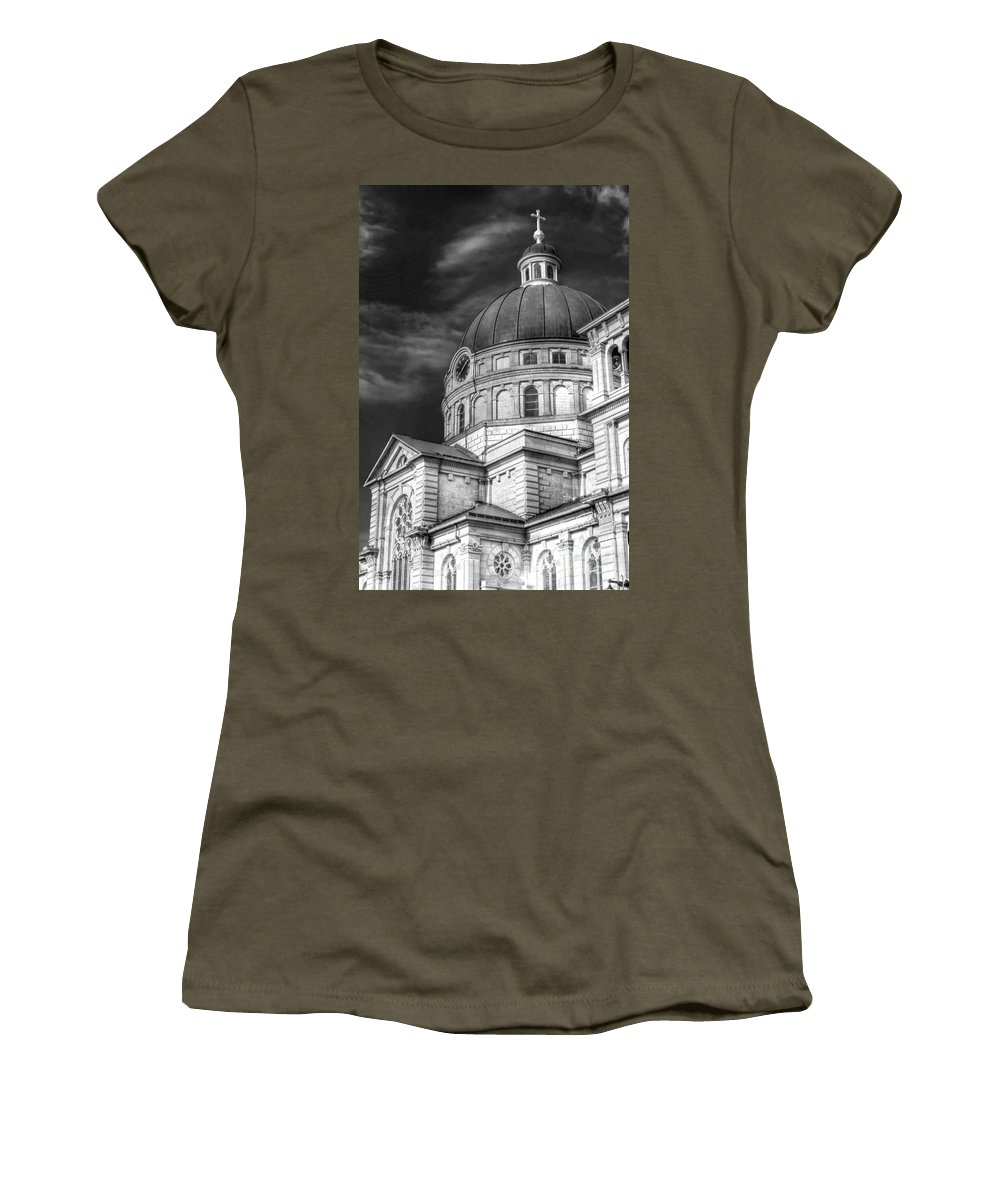Catholic Women's T-Shirt featuring the photograph 0039 The Basilica Of St. Josaphat by Steve Sturgill