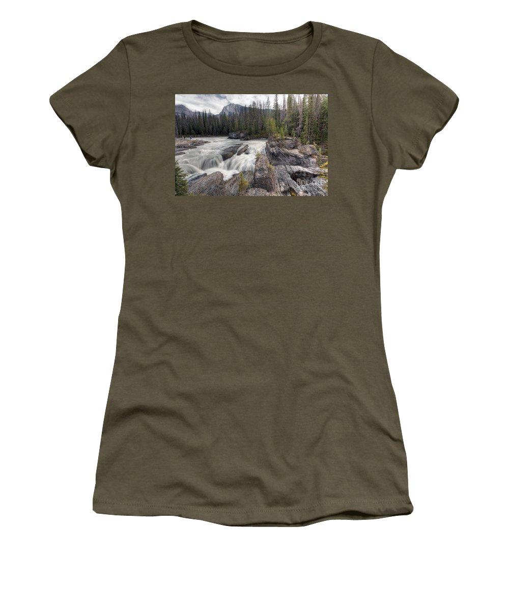 Natural Women's T-Shirt featuring the photograph 0182 Natural Bridge Waterfall by Steve Sturgill