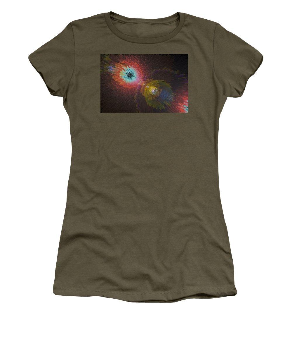 3d Women's T-Shirt featuring the digital art 3d Dimensional Art Abstract by David Pyatt