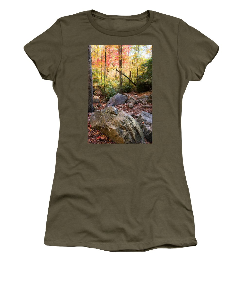 Autumn Women's T-Shirt (Athletic Fit) featuring the photograph A Palette Of Colors by Parker Cunningham