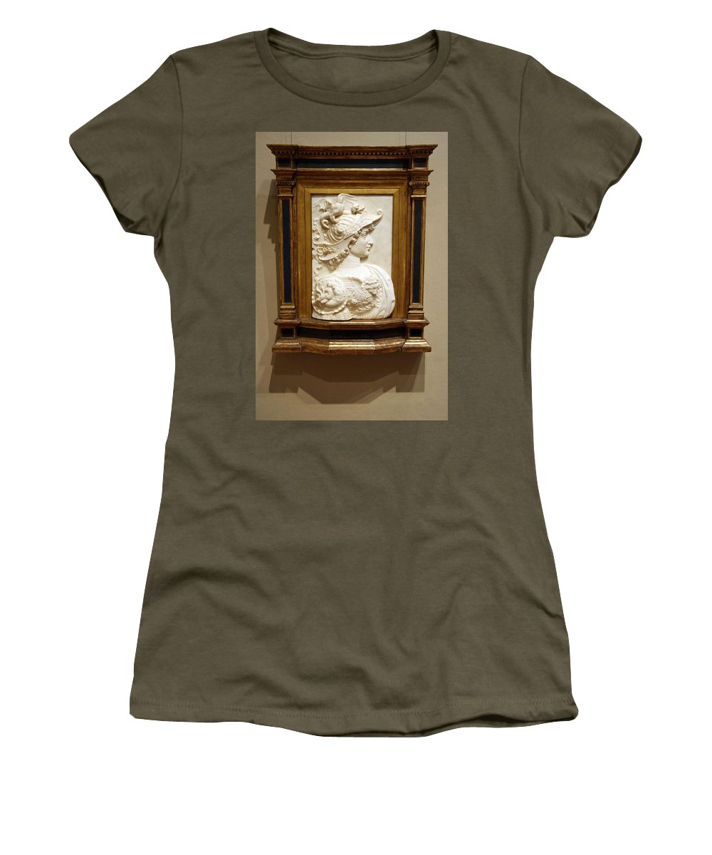 Alexander The Great Women's T-Shirt featuring the photograph Alexander The Great By Andrea Del Verrocchio by Cora Wandel