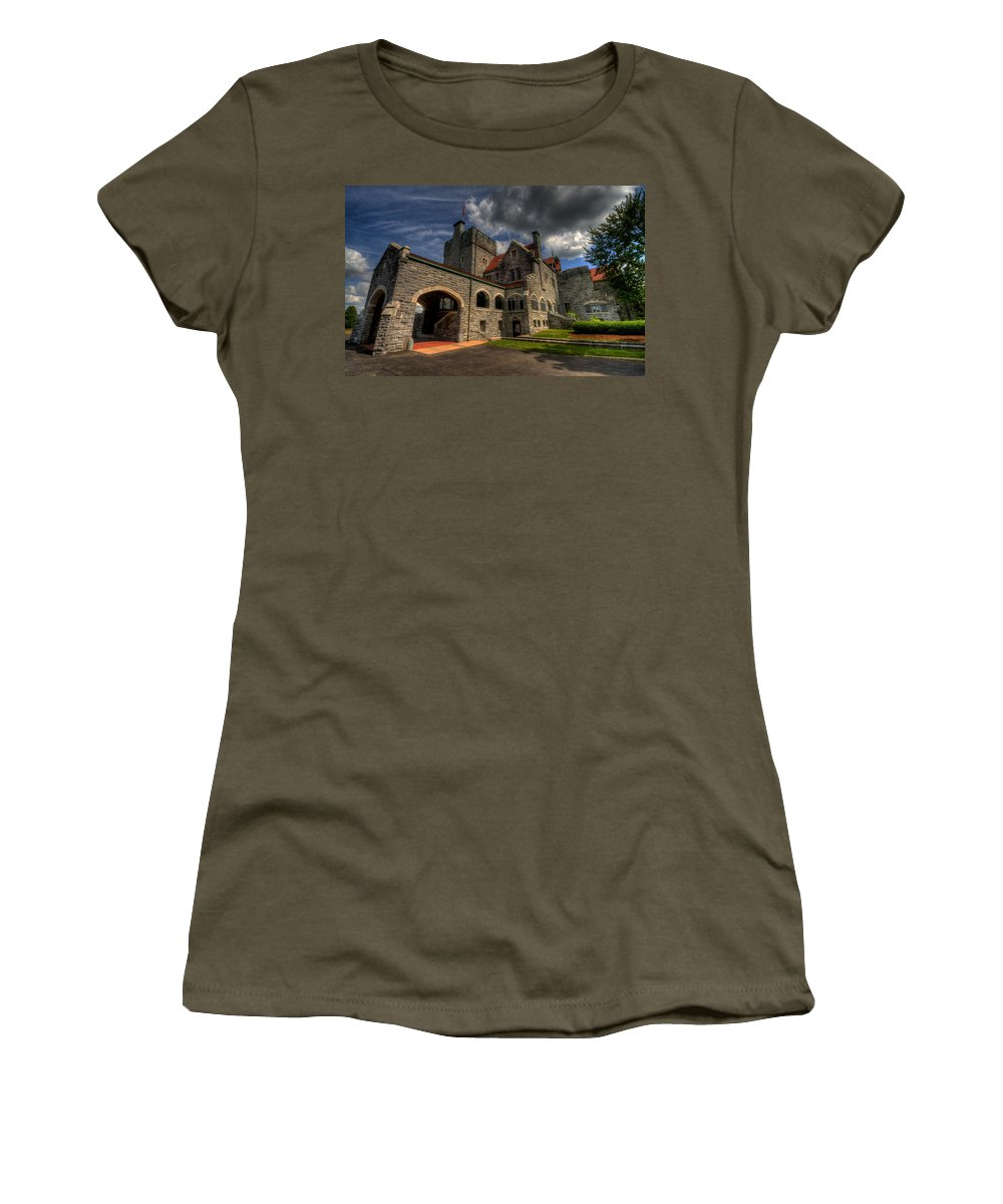 Castle Women's T-Shirt featuring the photograph American Castle by David Dufresne