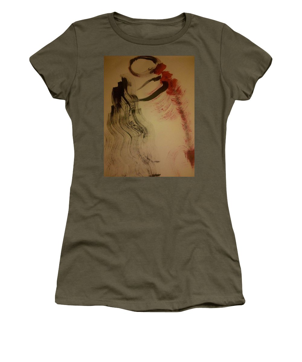 Figures Women's T-Shirt (Athletic Fit) featuring the photograph Art Therapy 19 by Michele Monk