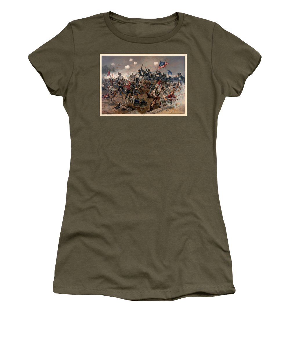 Spottsylvania Women's T-Shirt featuring the painting Battle Of Spottsylvania by Mountain Dreams