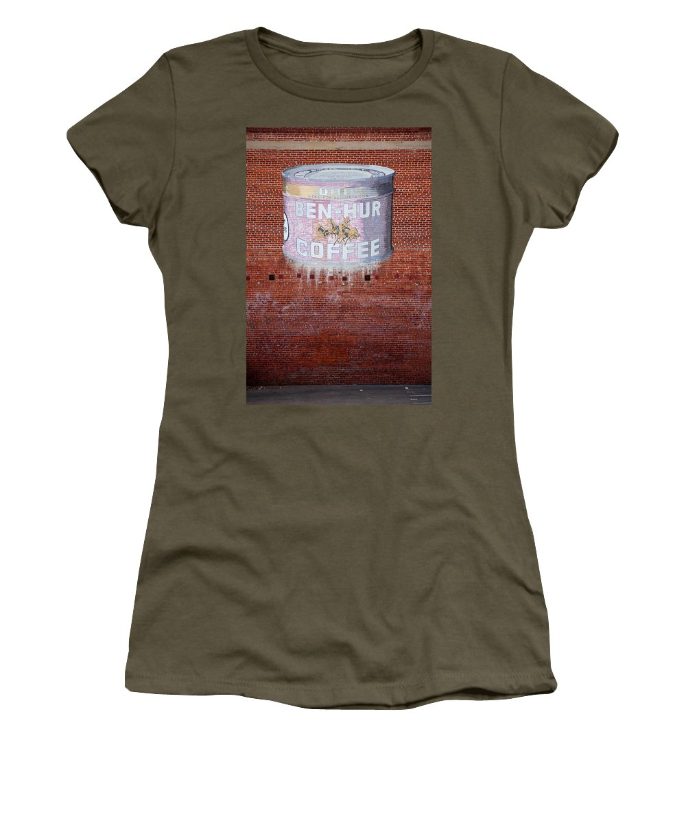 Ben Hur Cofee Women's T-Shirt featuring the photograph Ben Hur Coffee by Peter Tellone