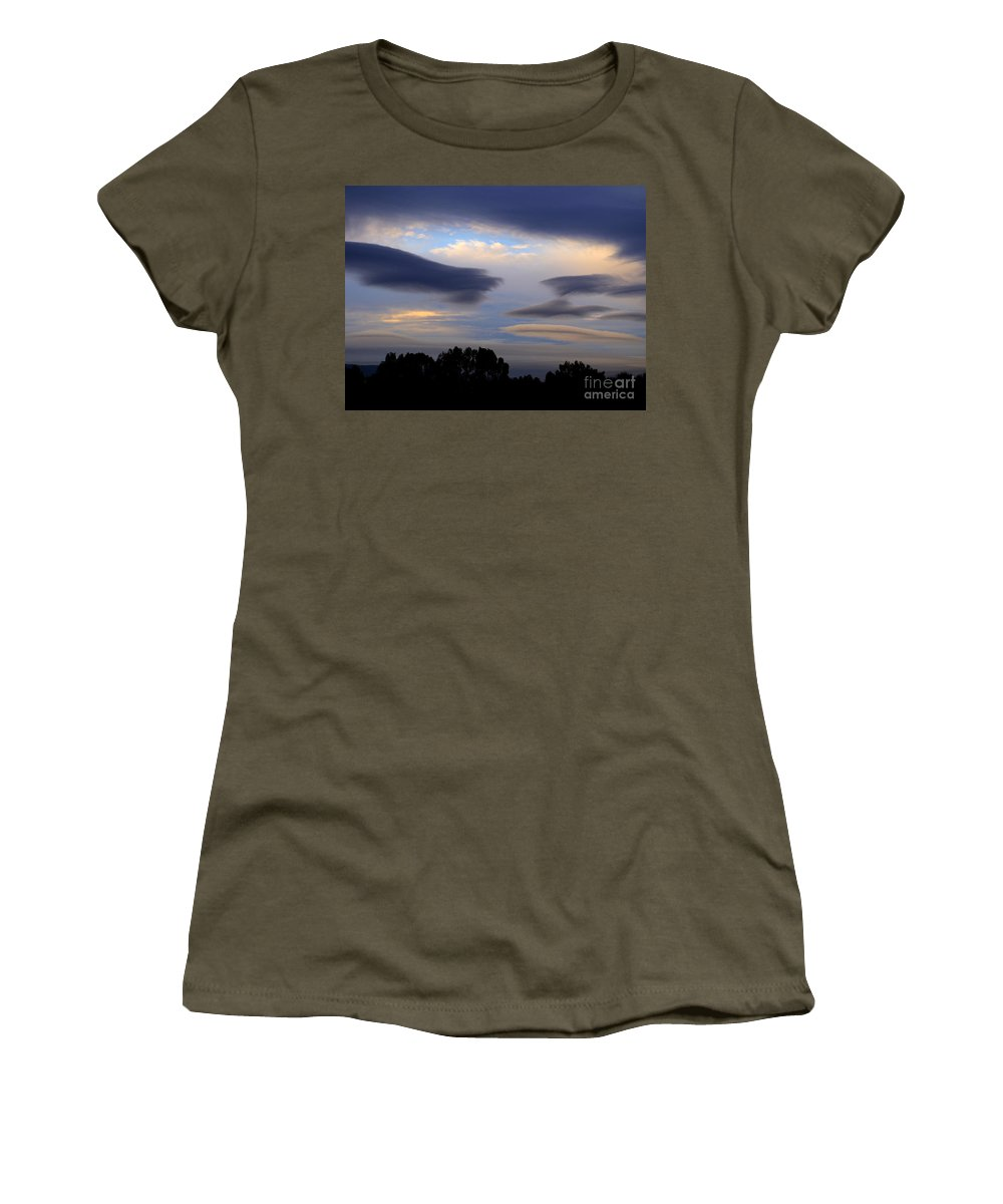Storm Clouds Women's T-Shirt featuring the photograph Cloudy Day 2 by Jacklyn Duryea Fraizer