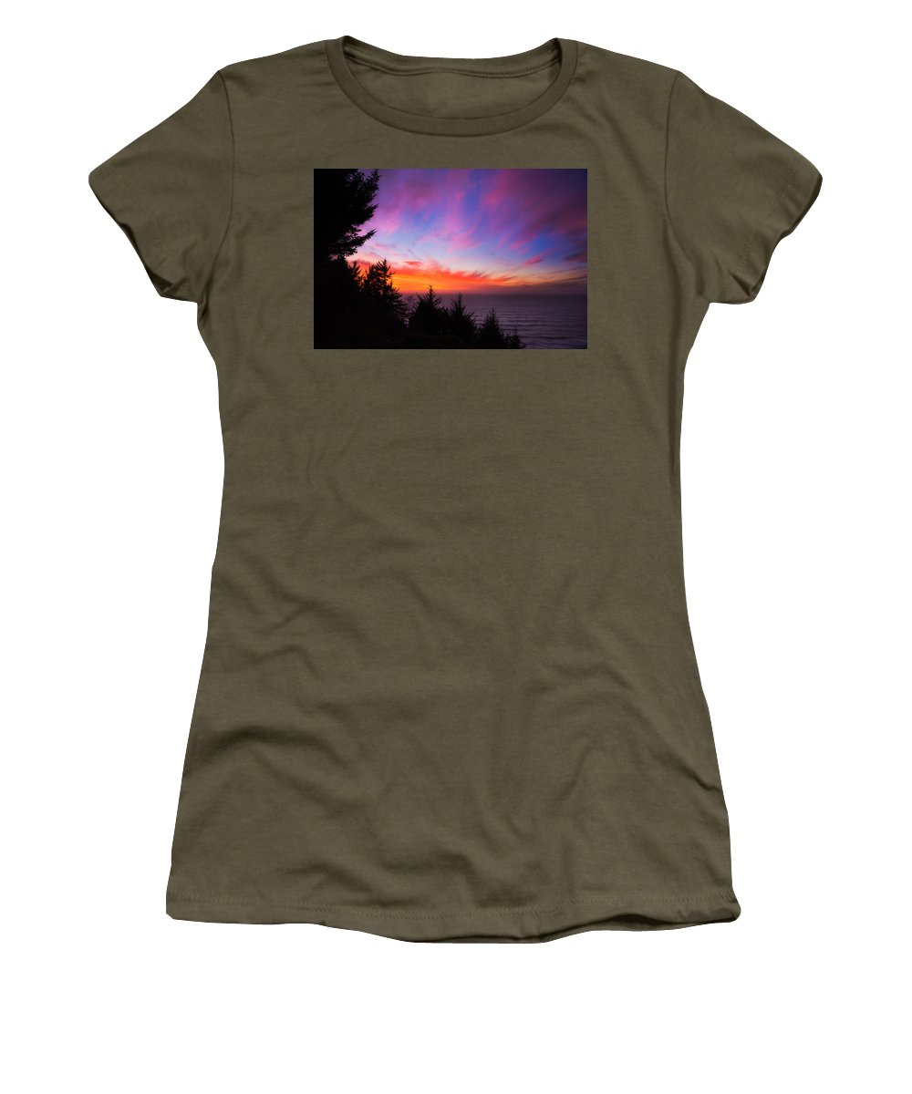 Sunset Women's T-Shirt featuring the photograph Coastal Skies by Darren White