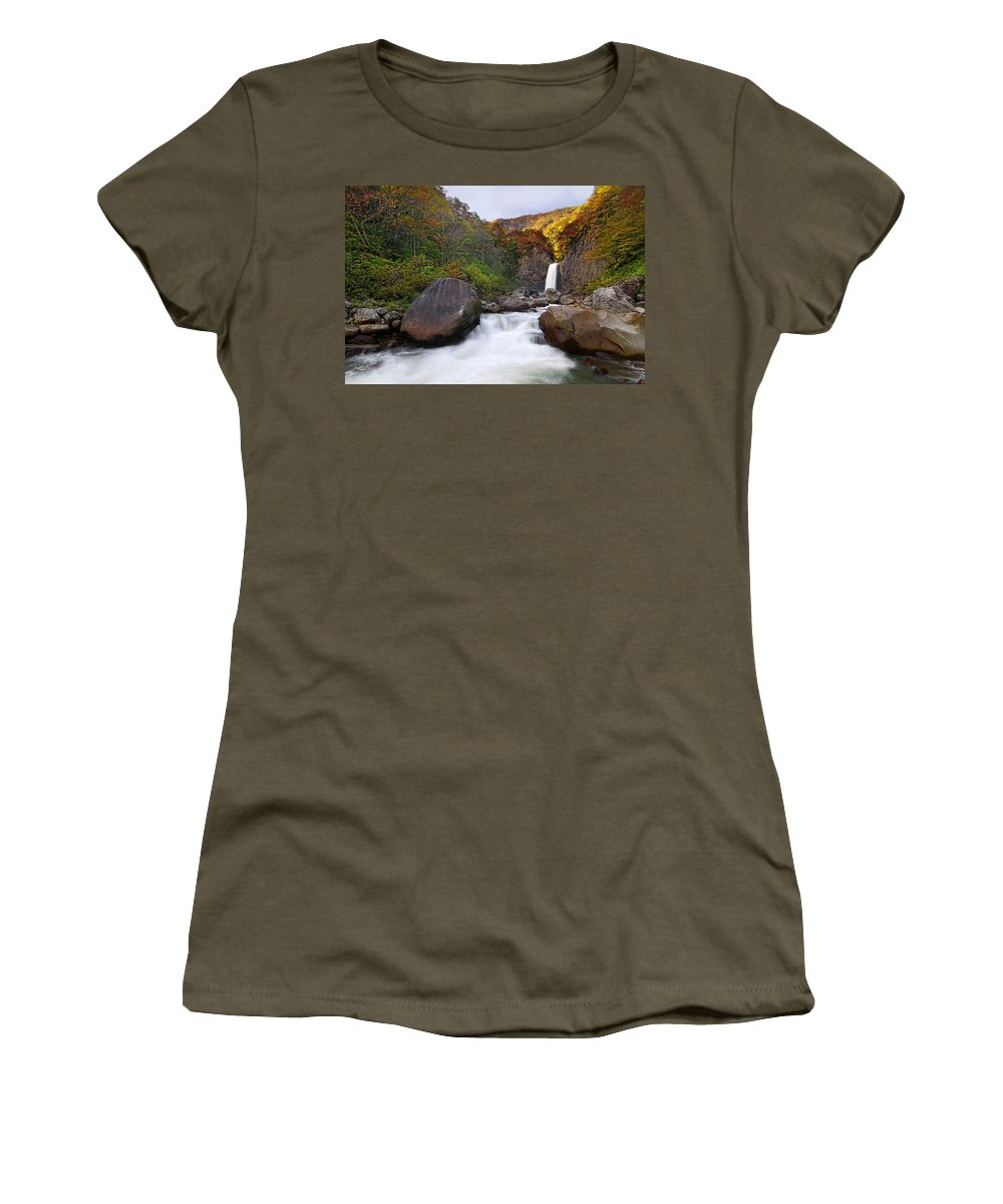 Water Fall Women's T-Shirt featuring the photograph Colors Of Fall by Midori Chan