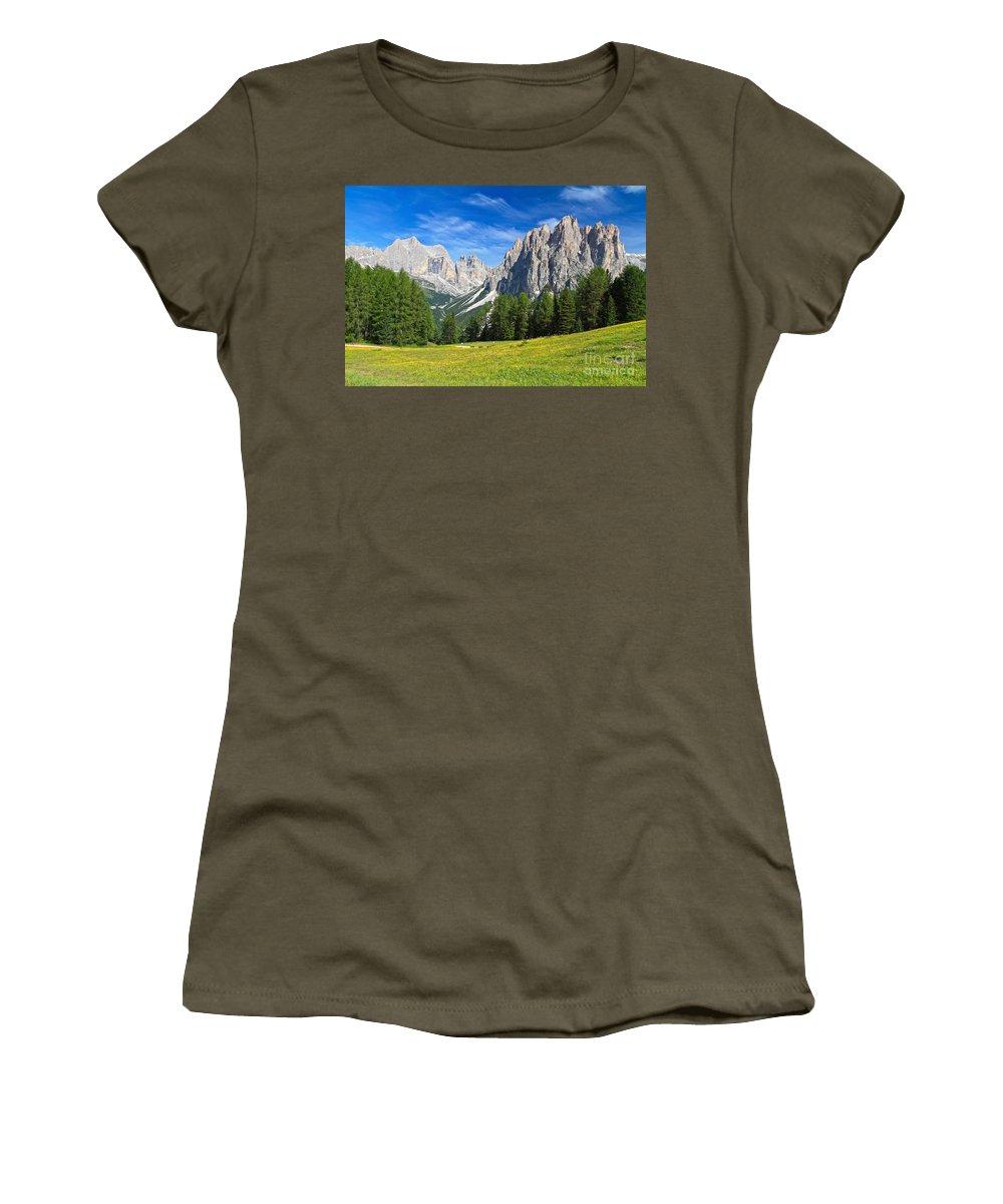 Summer Women's T-Shirt featuring the photograph Dolomites - Catinaccio Mount by Antonio Scarpi