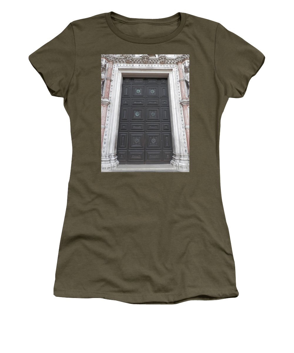 Door Women's T-Shirt featuring the photograph Door by Pema Hou