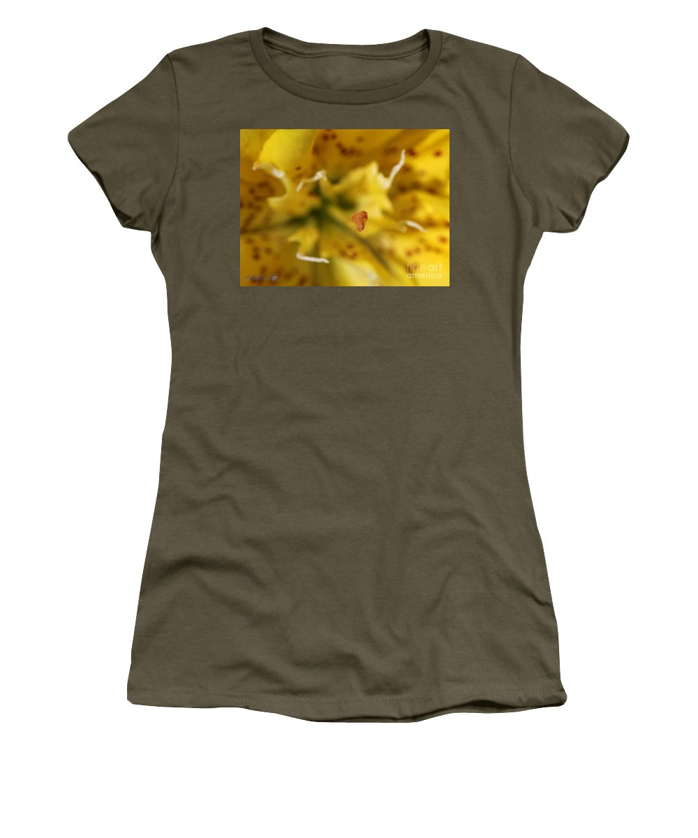 Mccombie Women's T-Shirt featuring the photograph Double Asiatic Lily Named Fata Morgana by J McCombie