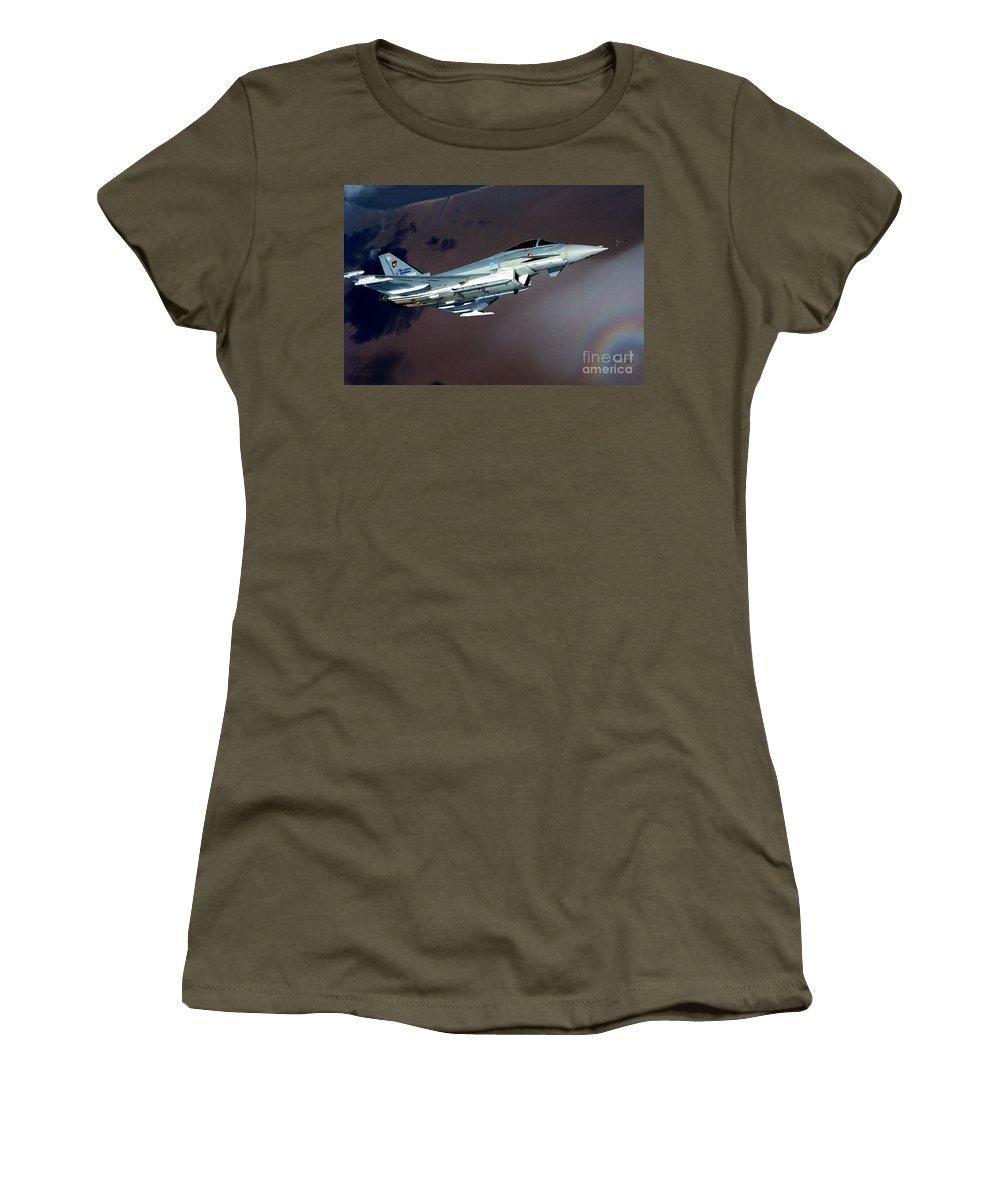 Eurofighter Da 2 Women's T-Shirt featuring the photograph Eurofighter by Paul Fearn
