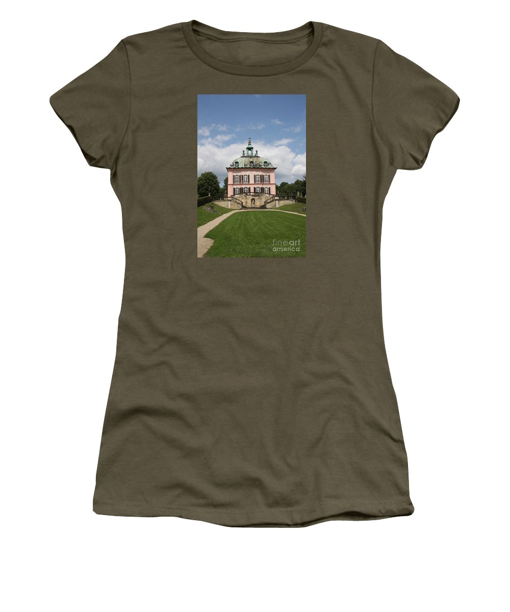Palace Women's T-Shirt featuring the photograph Fasanen Schloesschen - Germany  Pheasant Palace by Christiane Schulze Art And Photography