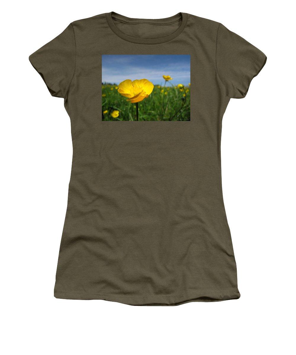 Nature Women's T-Shirt featuring the photograph Field Of Buttercups by Matt Taylor