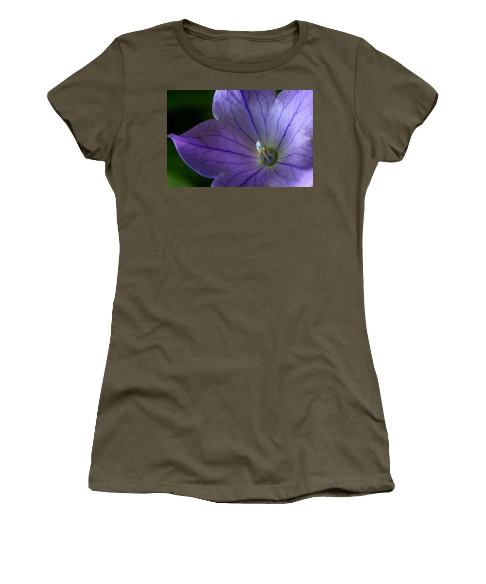 Purple Flower Women's T-Shirt featuring the photograph Floral Lines  by Neal Eslinger