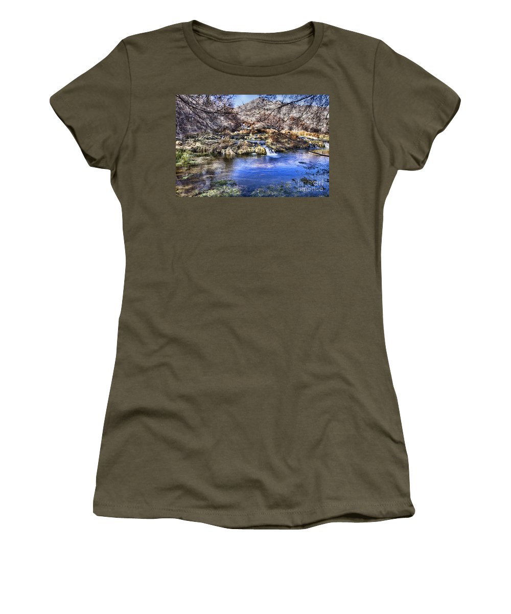 Ice Women's T-Shirt featuring the photograph Flow V5 by Douglas Barnard