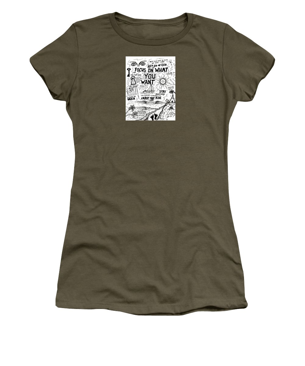 Focusdrawing Women's T-Shirt featuring the photograph Focus On What You Want by Paul Carter