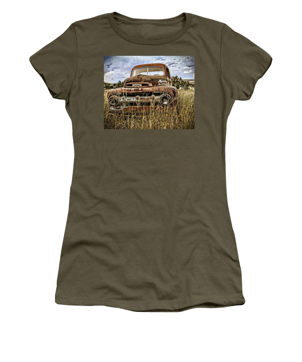 Ford Women's T-Shirt featuring the photograph ORD by Gia Marie Houck