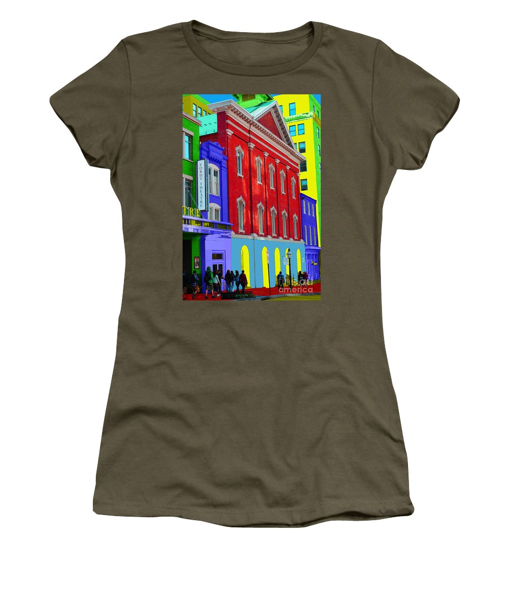 Ford Women's T-Shirt (Athletic Fit) featuring the photograph Fords Theatre by Jost Houk