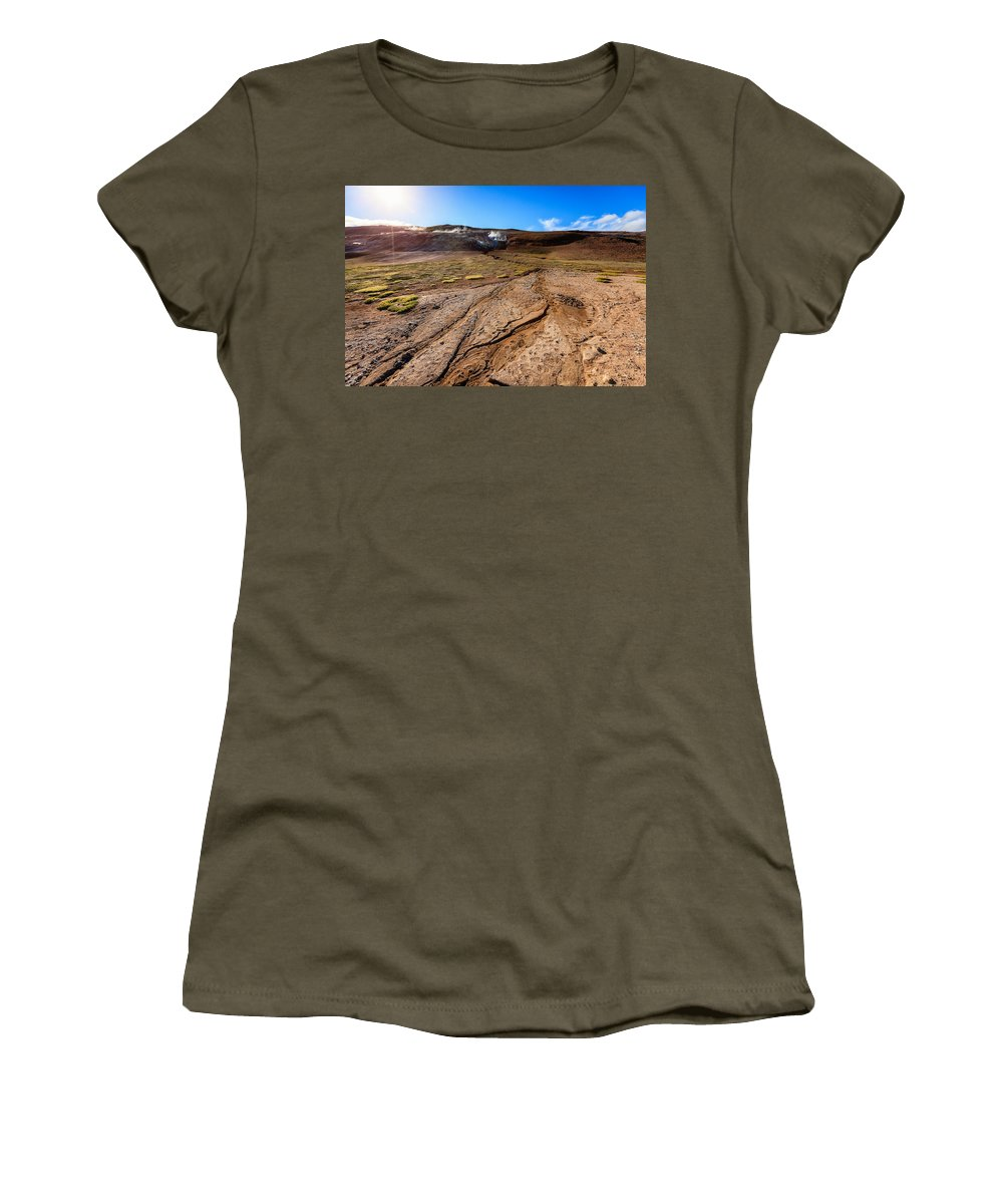 Europe Women's T-Shirt featuring the photograph Geothermal Field by Alexey Stiop