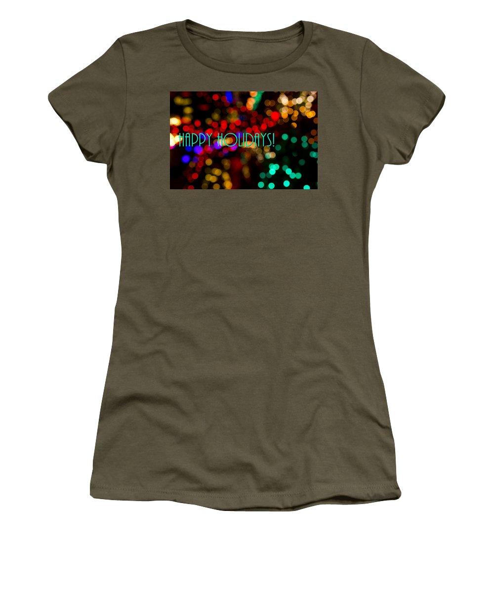 Happy Holidays Women's T-Shirt featuring the photograph Happy Holidays by Saija Lehtonen