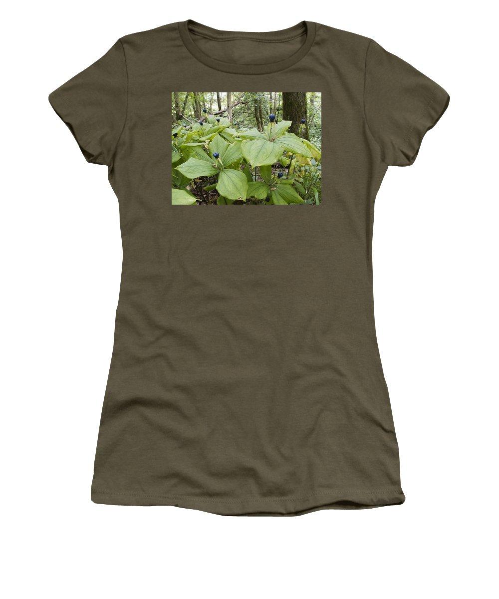 Herb Paris Women's T-Shirt featuring the photograph Herb Paris by Bob Kemp