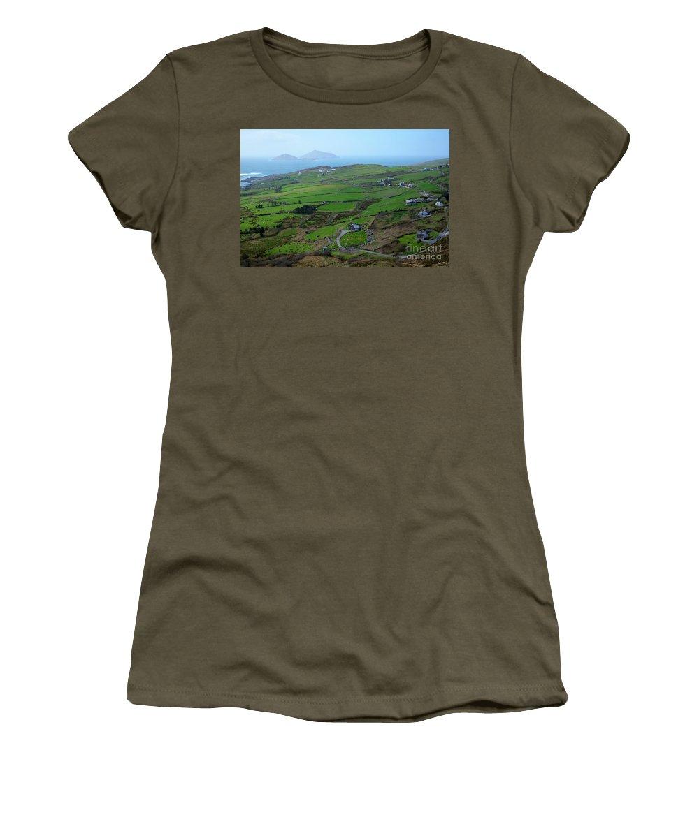 Irish Women's T-Shirt featuring the photograph Irish Coast by DejaVu Designs
