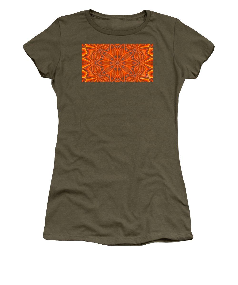 Kaleidoscope Women's T-Shirt featuring the digital art Kaleidoscope 32 by Ron Bissett