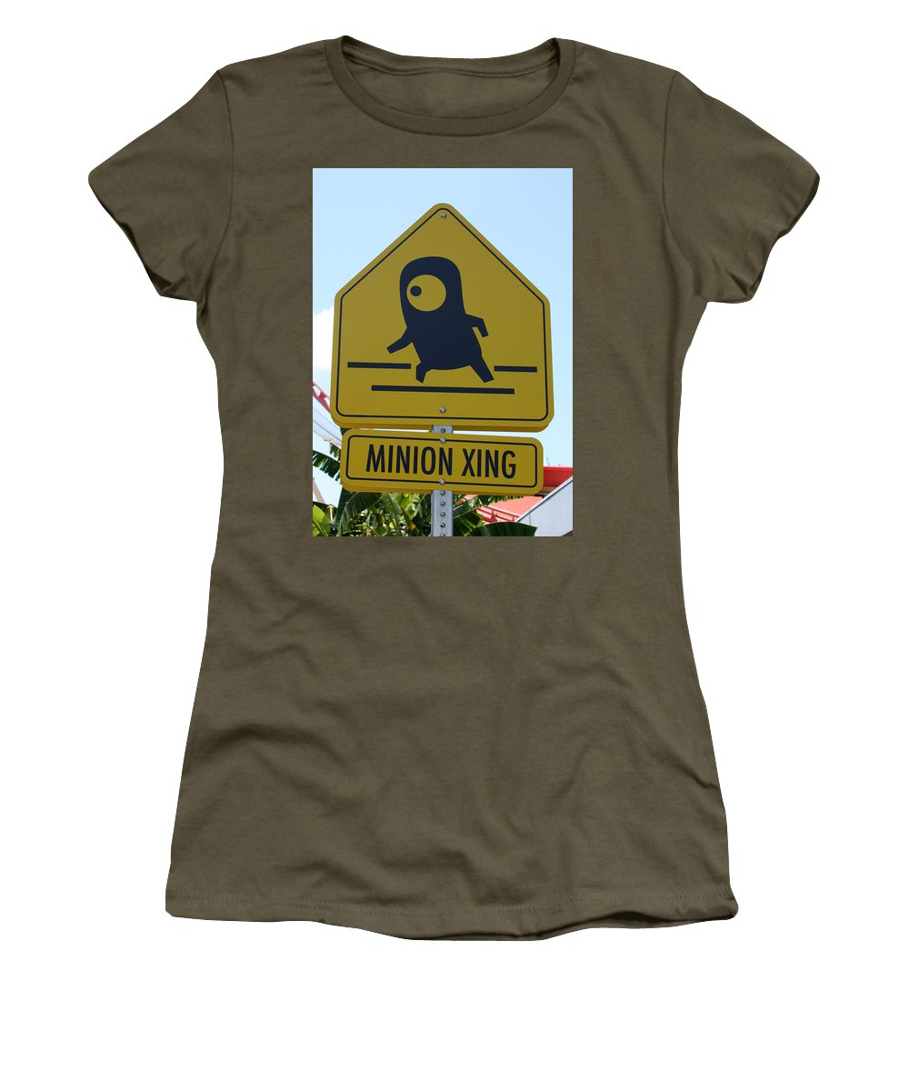 Orlando Women's T-Shirt (Athletic Fit) featuring the photograph Minion Crossing by David Nicholls