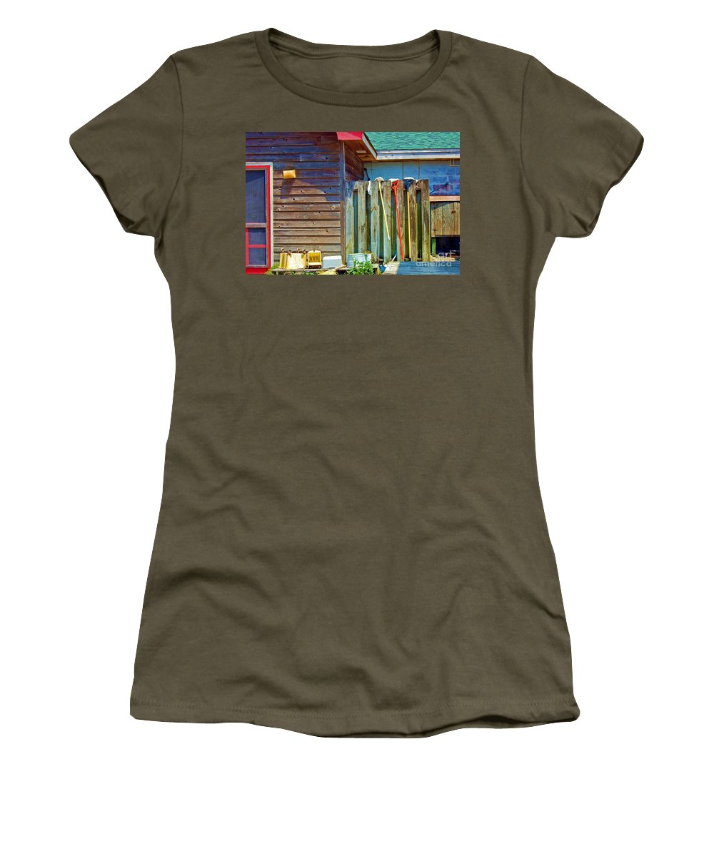 Building Women's T-Shirt featuring the photograph Out To Dry by Debbi Granruth