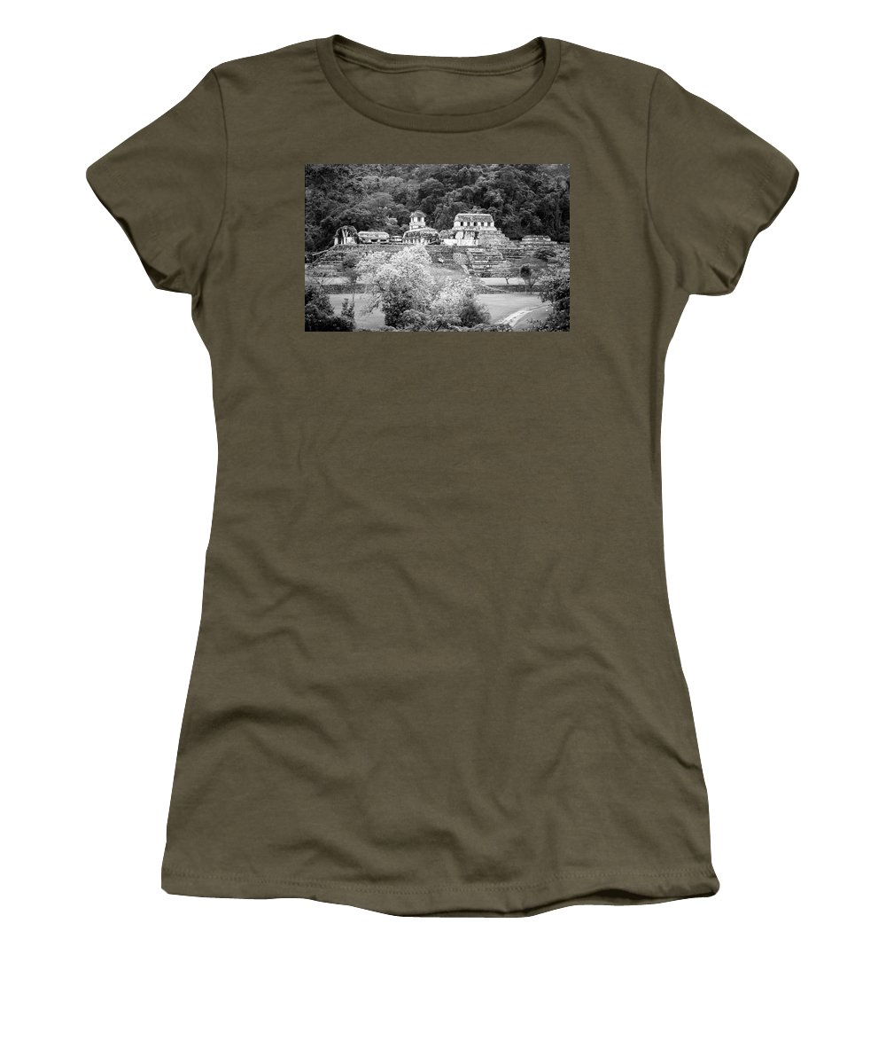America Women's T-Shirt featuring the photograph Palenque City by Roy Pedersen