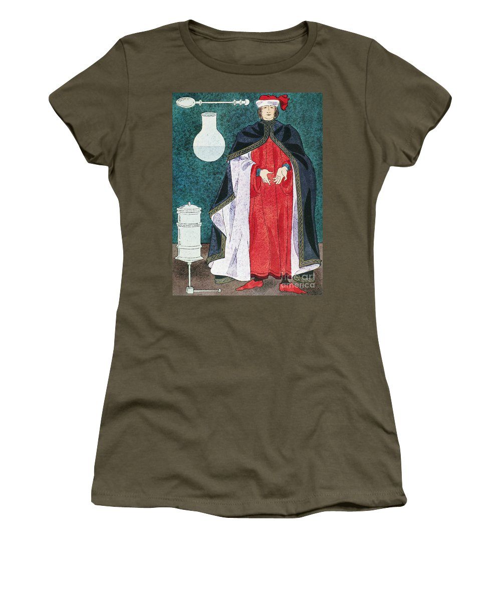 16th Century Women's T-Shirt featuring the painting Physician 16th Century by Granger