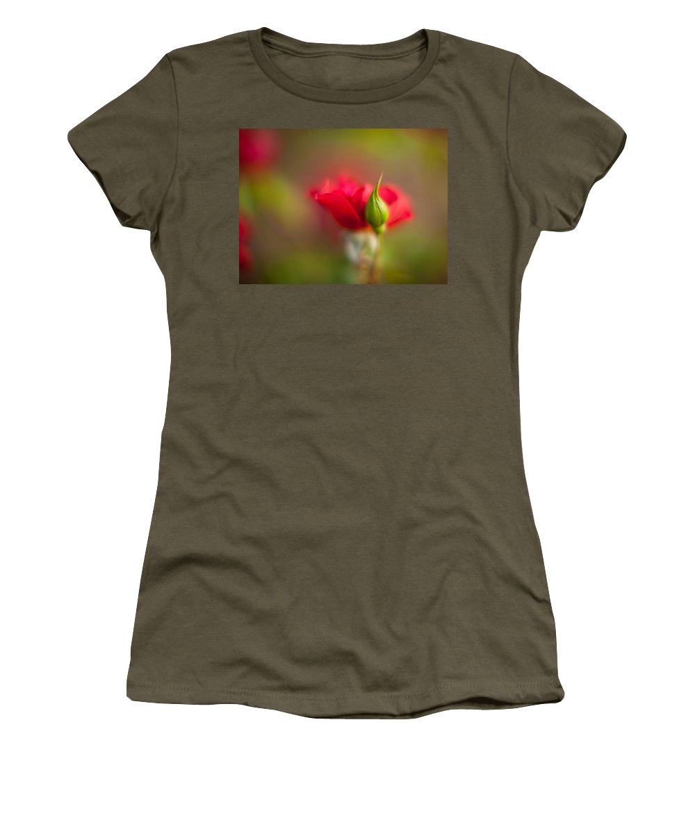 Flower Women's T-Shirt featuring the photograph Rosebud by Mike Reid